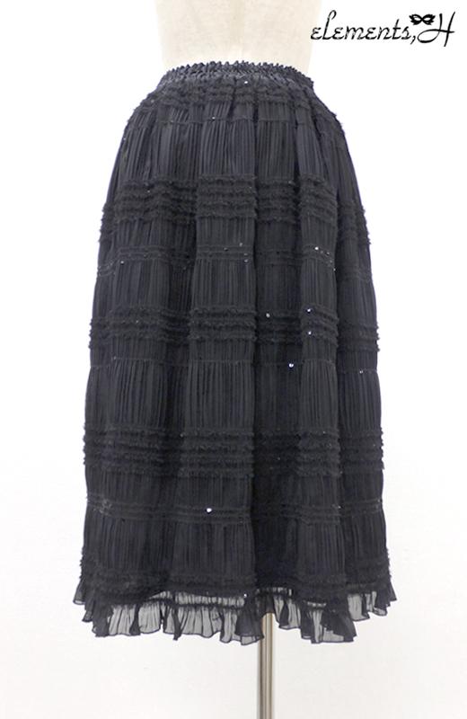 スパンコールシフォンスカート 082501P