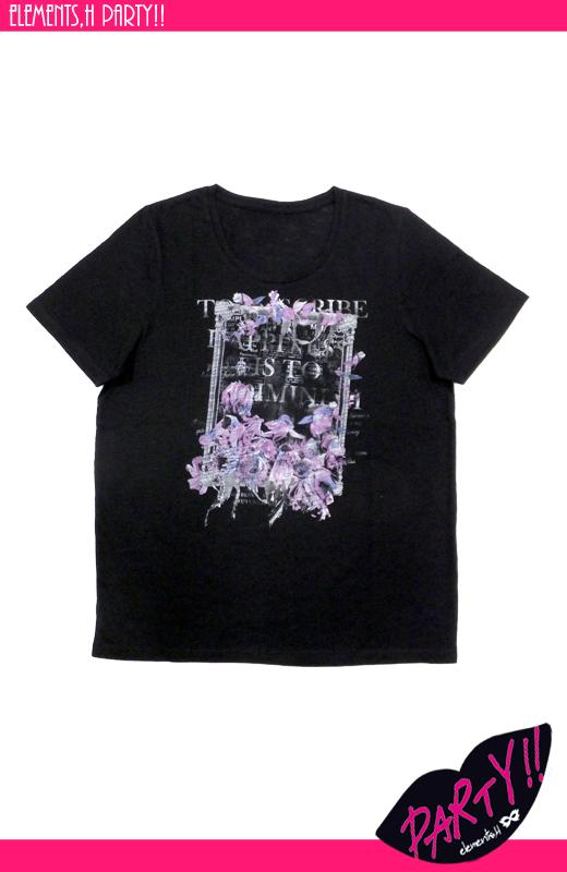 Flower プリントカットソー 051741A