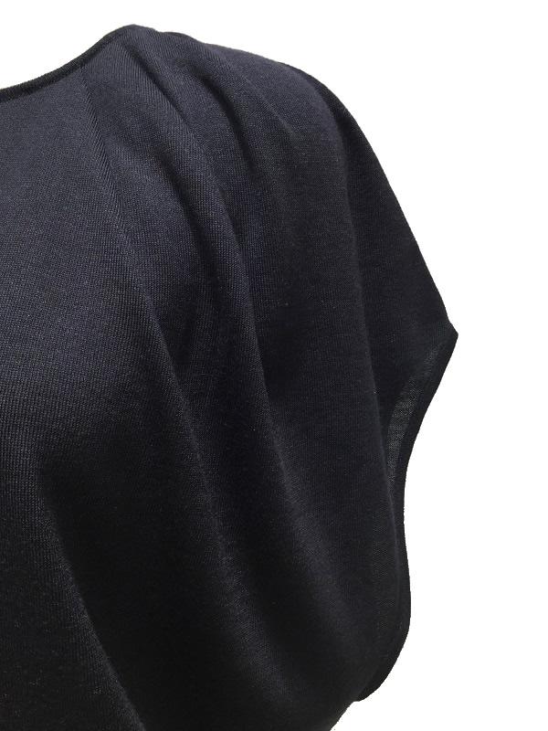 LANVIN/ランバン レディース シルク カシミヤ混 タック入りドレープニット ネイビー 2019SS COLLECTION