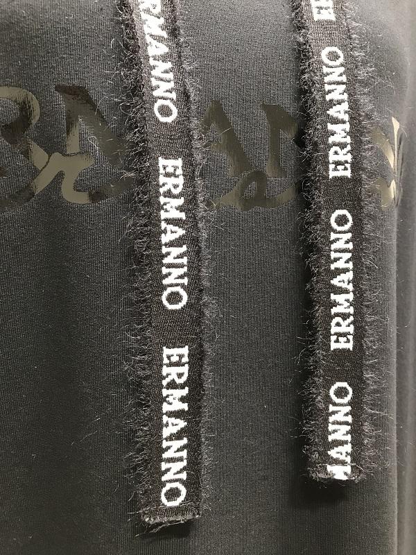 【SALE 30%OFF】ERMANNO SCERVINO/エルマンノ シェルヴィーノ 裾レーススウェットワンピース 2020-21AW COLLECTION