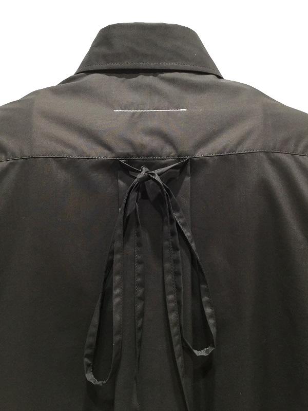 MM6 Maison Margiela/エムエムシックス メゾンマルジェラ リバースロゴ シャツ ブラック 2019-20AW PRECOLLECTON