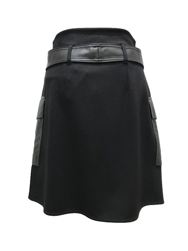 【SALE 40%OFF】i BLUES/イブルース ベルテッドジャージー トラペーズスカート 2020-21 AW COLLECTION