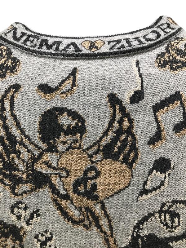 Zhor&Nema/ゾーアンドネマ インターシャ クルーネックプルオーバー  2021-22AW COLLECTION