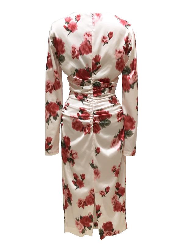 Blumarine/ブルマリン ローズプリントドレス 2021SS COLLECTION