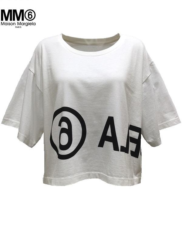 MM6 Maison Margiela/エムエムシックス メゾンマルジェラ リバースロゴTシャツ ホワイト 2019-20AW PRECOLLECTON