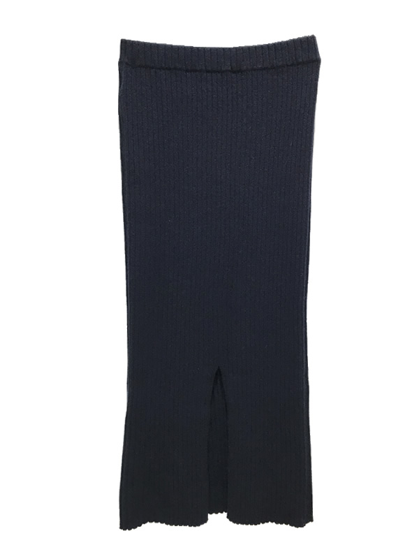 【SALE 50%OFF】ALLUDE/アリュード カシミヤリブニットスカート 2020-21AW COLLECTION