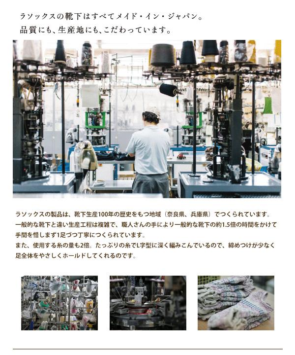 【ラソックス】 ベーシック・カバー   #rasox #日本製 #ソックス #靴下 #ユニセックス