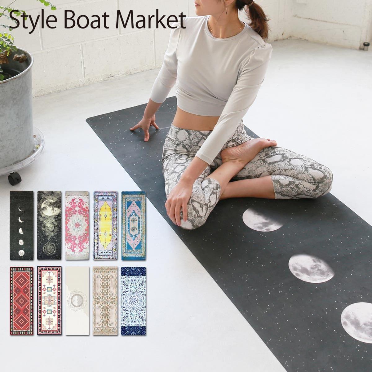 【スタイルボートマーケット】柄ヨガマット 2mm | #Style Boat Market #ヨガマット #ヨガ #柄マット #マット #ヨガグッズ #トレーニング #ストラップ付き
