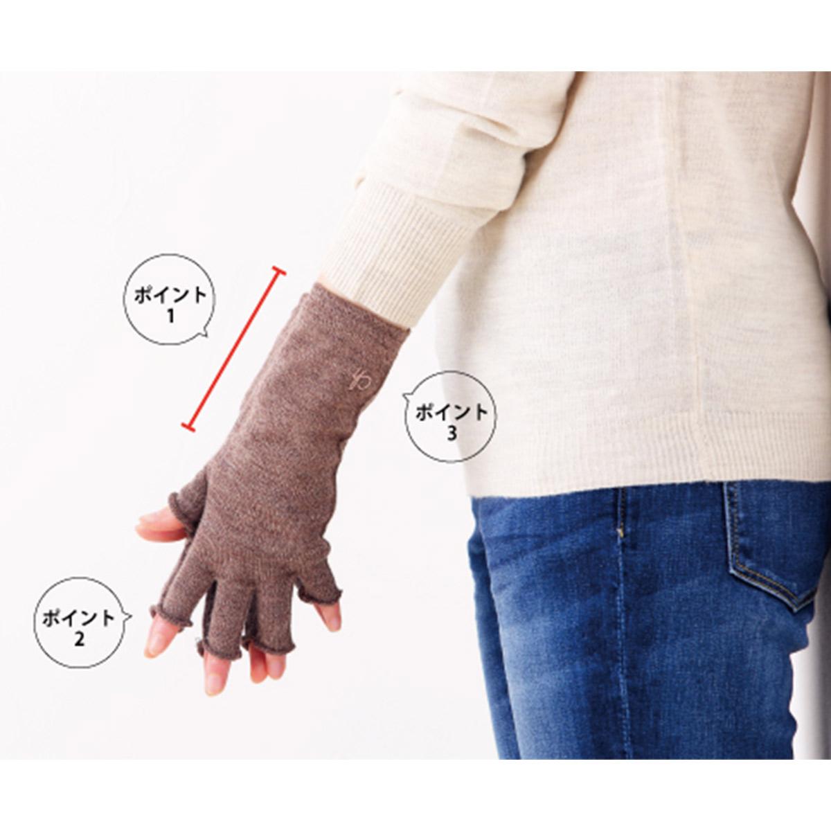 コンフォートハグ 肌側シルクのハンドウォーマー Comfort hugge