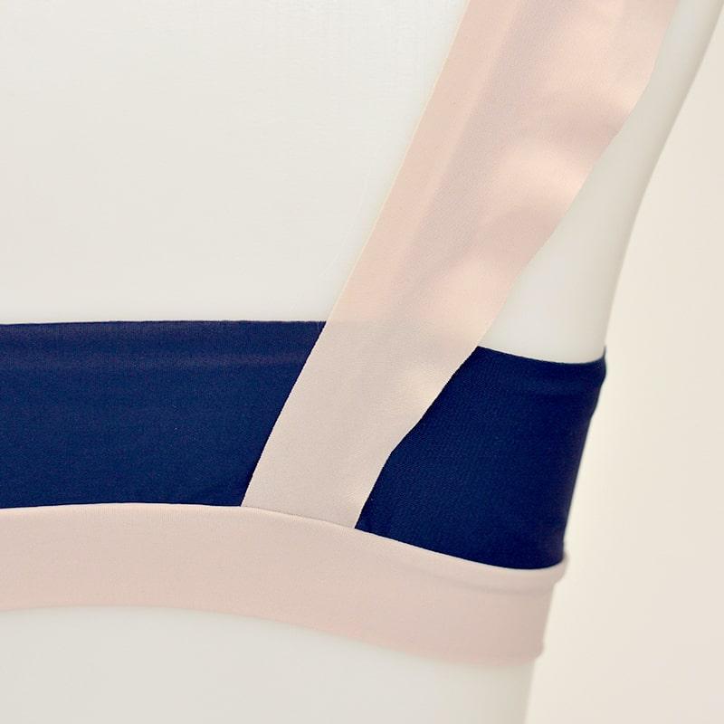 【アエラブルー】 メロウバイカラーブラレット | #AERABLUE #日本製 #ブラジャー #ノンワイヤーブラ #ヨガウェア #ヨガブラ #フリーカット