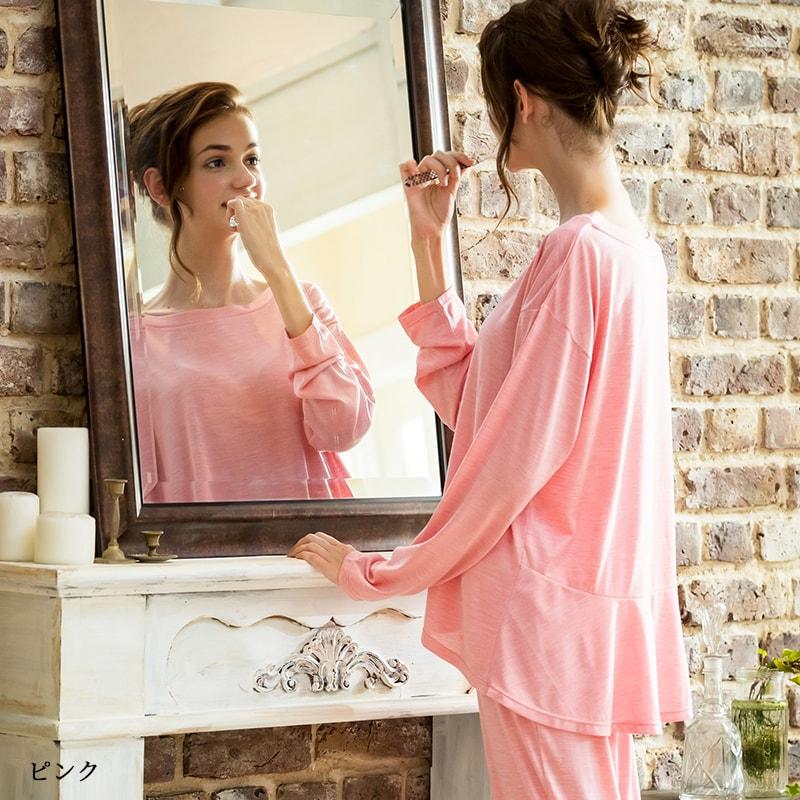 【10%OFFクーポン】リリーパレット シルクパジャマ レディース 上下セット│シルク100%パジャマ