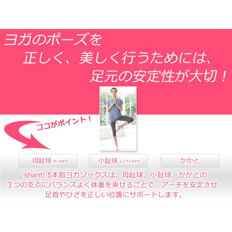 【シャンティ】 5本指ヨガソックス アンクルタイプ3色セット   #shanti #ヨガ #ヨガソックス #滑り止め付 #ソックス #セット