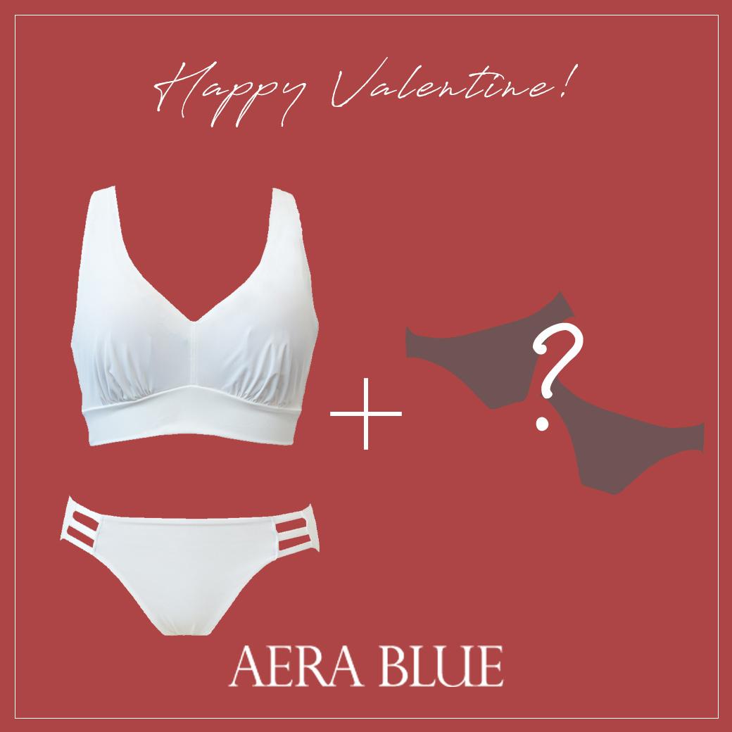 【アエラブルー】 バレンタイン限定SET | #AERABLUE #日本製 #ブラジャー #ノンワイヤーブラ #パンティ #セット #バレンタイン