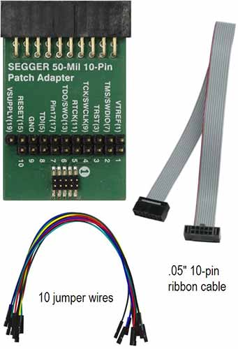 SEGGER 50-Mil 10-Pin Patch Adpter
