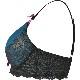 深い青×黒ラメレースの小悪魔ブラ。セクシーなレース使いのTシャツブラ。授乳ブラ・マタニティブラ(ノンワイヤー/ソフトワイヤー)