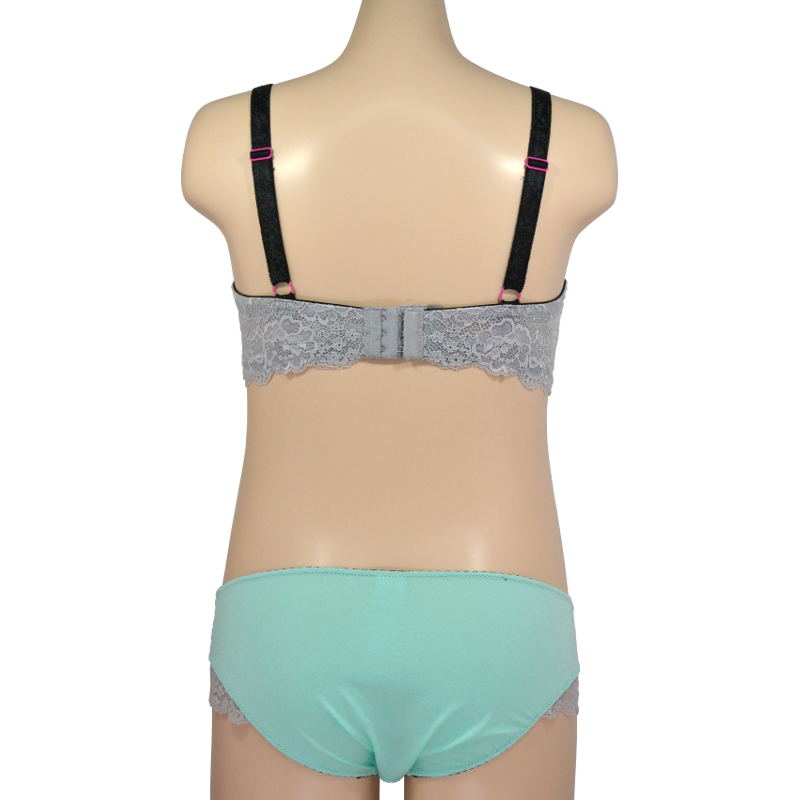 [F,G,Icup]のみ クールミントの涼しげなTシャツブラ。シルバーラメで差をつける。授乳ブラ・マタニティブラ兼用(ソフトワイヤー)