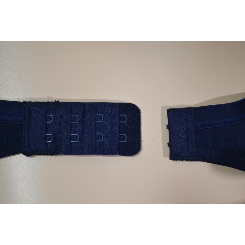 [D80][D85] 紺色の綿混Tシャツブラ。モールドカップのマタニティブラ・授乳ブラ兼用