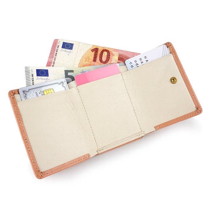 三つ折り財布 小さい財布 レディース 婦人財布 本革 牛革 パステル フリンジ チャーム E-premium