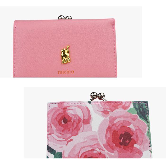 財布 がま口 レディース 小さい財布 極小財布 ミニウォレット ミニ ウォレット 三つ折り 猫 猫グッズ 小さい コンパクト おしゃれ カード入れ 小銭入れあり カジュアル がま口