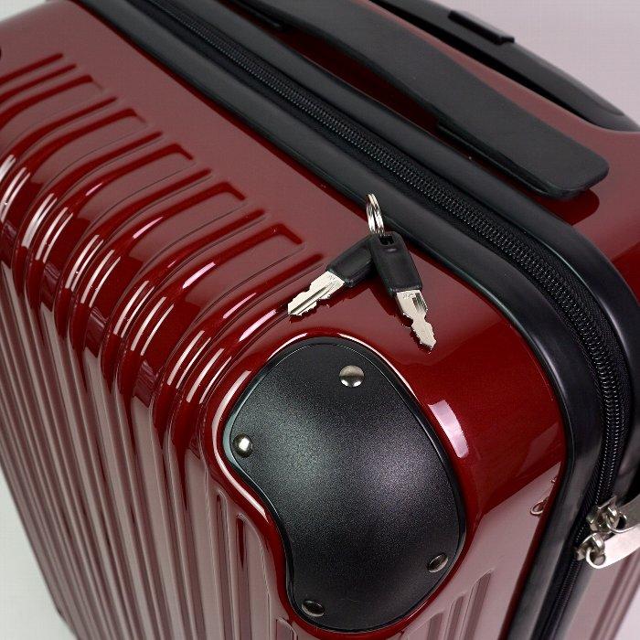 キャリーケース スーツケース トランク mobac ハード 一年保証 軽量 軽い 出張 旅行 大容量 56L 2泊 3泊 360度 動きやすい TSAロック