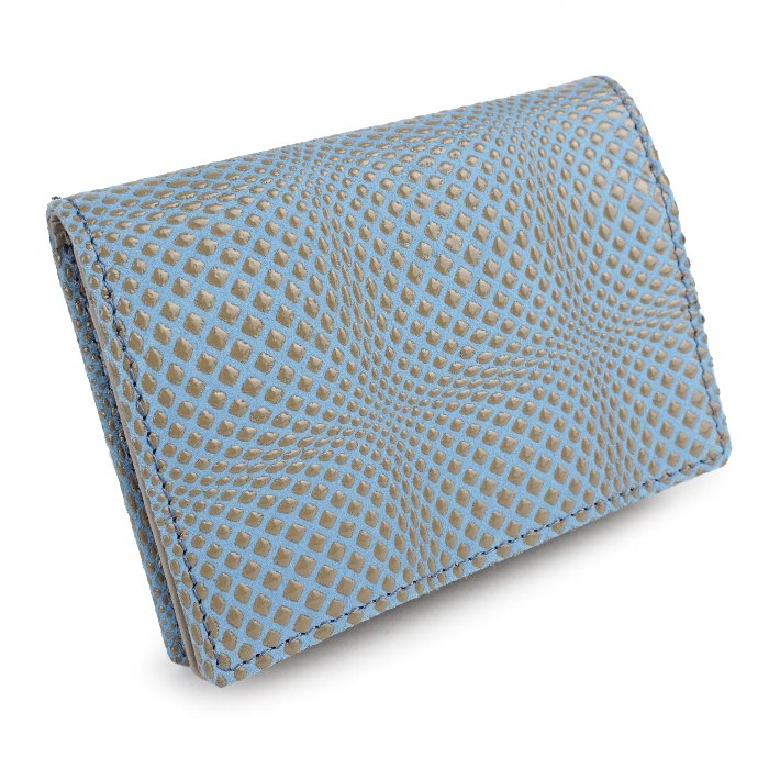 名刺入れ レディース カードケース 軽い 50枚 軽い 本革 日本製 革財布 羊革 エレガント 幾何学 ディメンション isuru JAPON