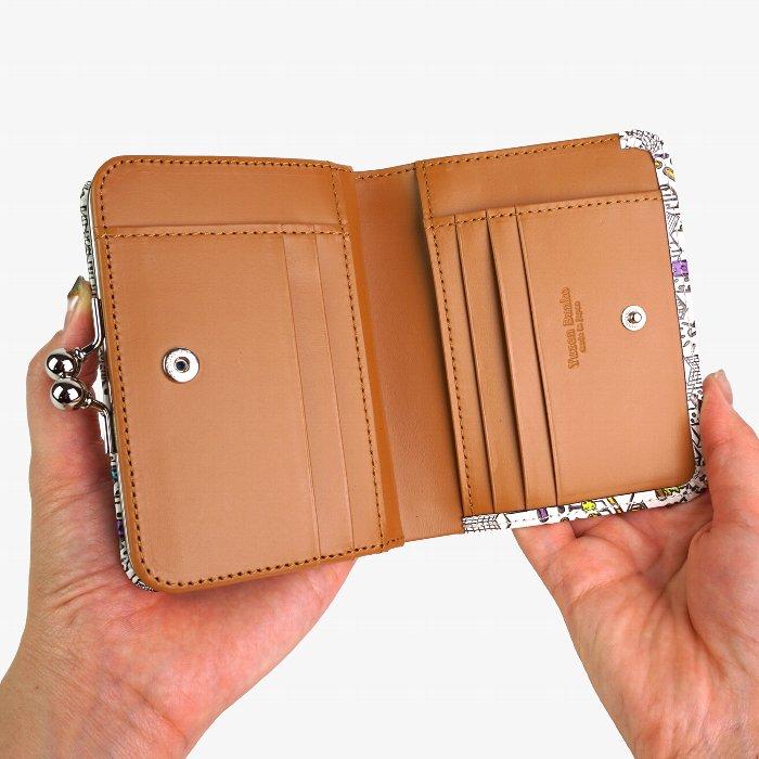 友禅文庫 マップ がま口二つ折り財布