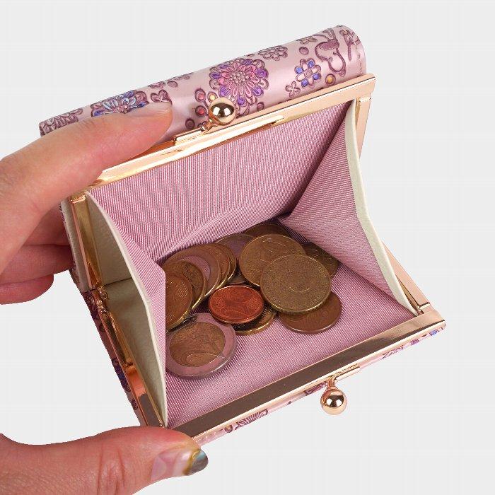 友禅文庫 スヌーピー 三つ折り財布