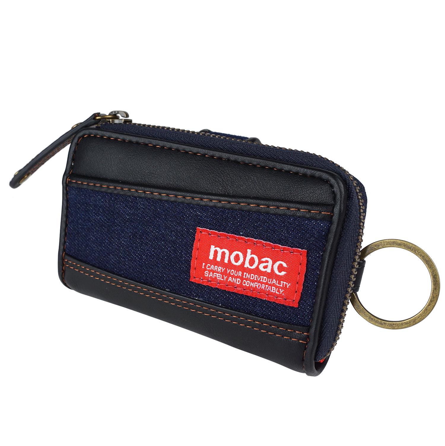 キーケース 小銭入れ メンズ コインケース L字ファスナー デニム カジュアル 普段使い モバック mobac
