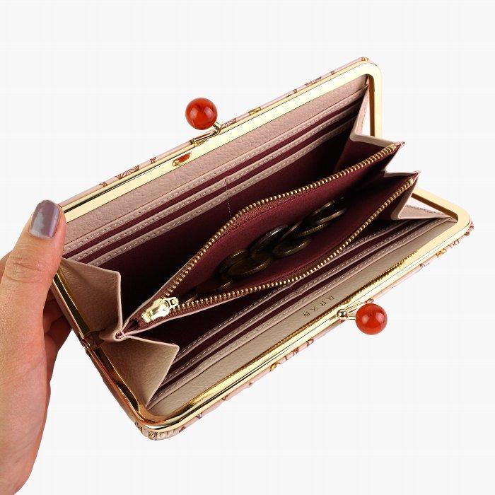 友禅文庫 猫遊び がま口長財布