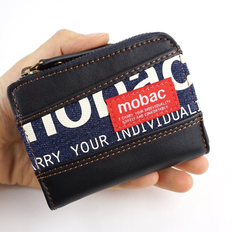 小銭入れ コインケース L字ファスナー メンズ デニム mobac