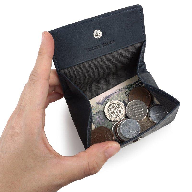 paccapacca エンブレムタッチ ボックス型コインケース