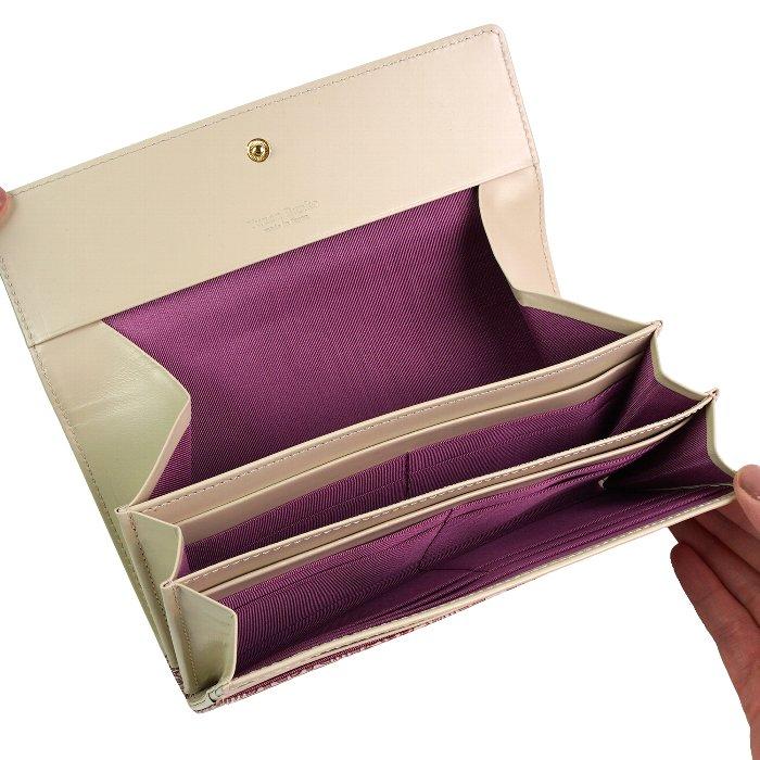 ギャルソン長財布 財布 レディース 大容量 本革 文庫革 日本製 友禅文庫