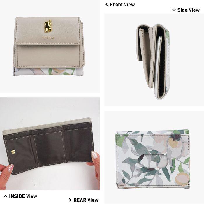 財布 レディース 小さい財布 極小財布 パスケース 定期入れ ミニウォレット 三つ折り 猫 猫グッズ 小さい コンパクト おしゃれ カード入れ 小銭入れあり カジュアル サイフ