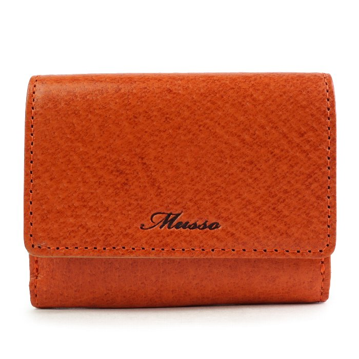 三つ折り財布 レディース 小さい財布 極小財布 折りたたみ 本革 豚革 おしゃれサイフ レザー コンパクト エレガント ギフト 祝い プレゼント MUSSO サイフ 財布