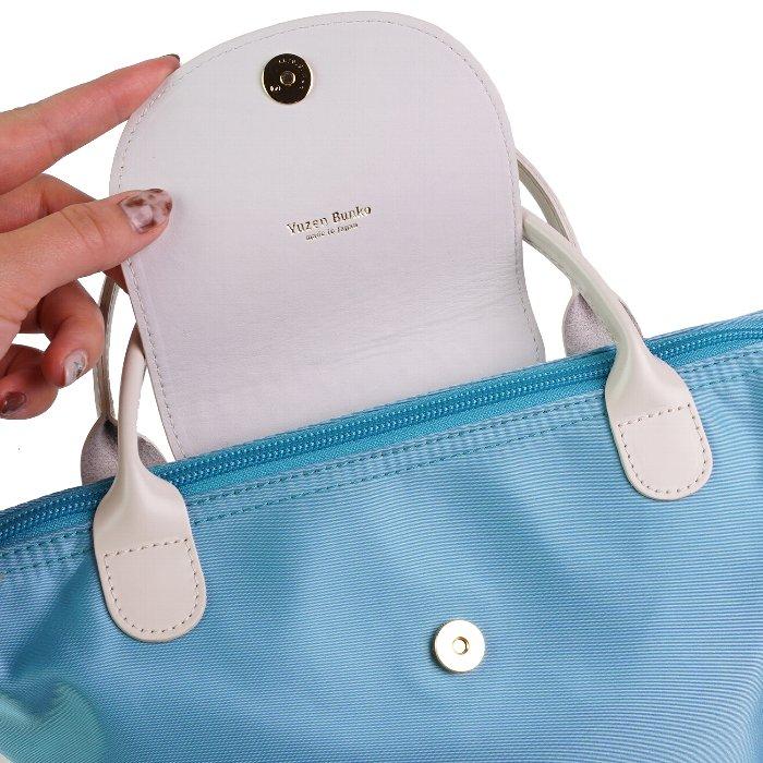バッグ ハンドバッグ レディース 本革 ナイロン 日本製 軽い 軽量 きれい上品 かわいい トリアングル 幾何学模様 友禅文庫 母の日 ギフト プレゼント
