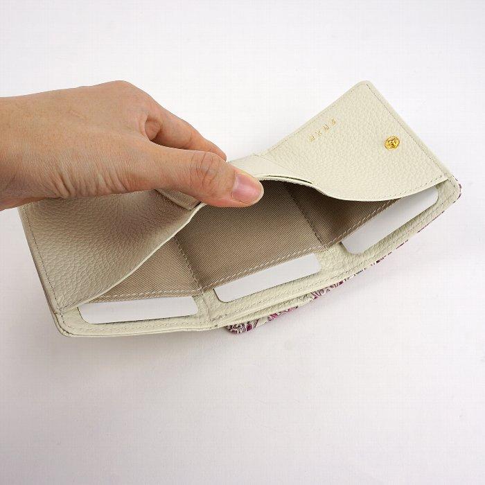 友禅文庫 フラワーガーデン 三つ折り財布