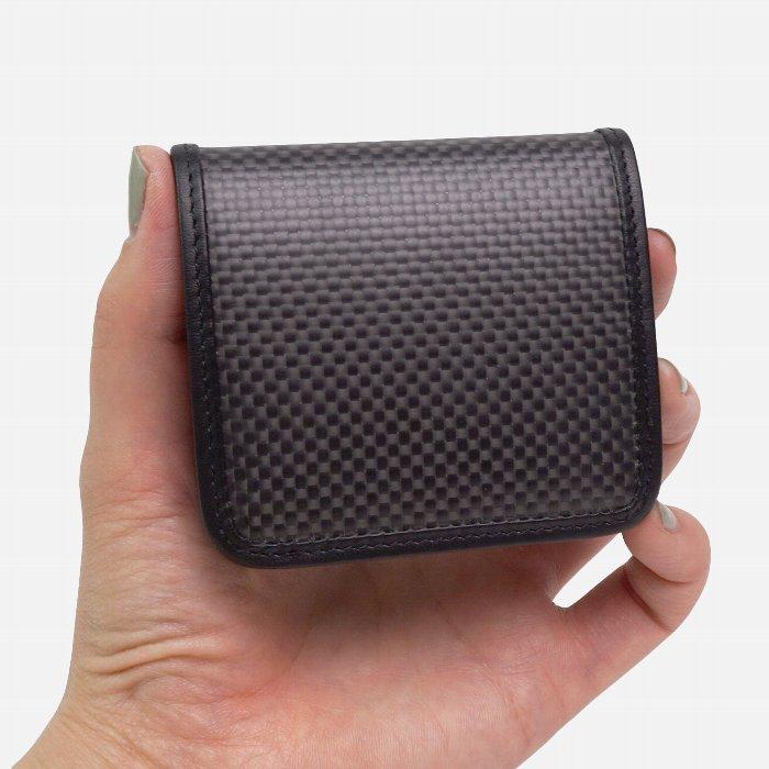 【日本製】カーボンファイバーと上質レザーを使用したボックスコインケース・小銭入れ【CARFIBE】