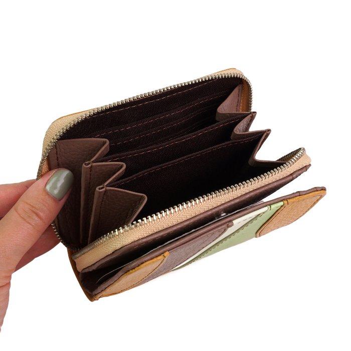 paccapacca ミルフィーユ ラウンドファスナー二つ折り財布