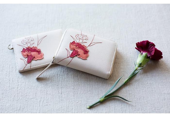 12ヶ月の誕生花をモチーフにしたパッチワークが美しいコインケース【銭入屋】