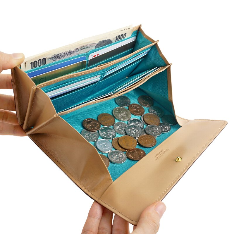 長財布 ギャルソン カード入れ 大容量 多機能 本革 日本製 トリアングル 友禅文庫