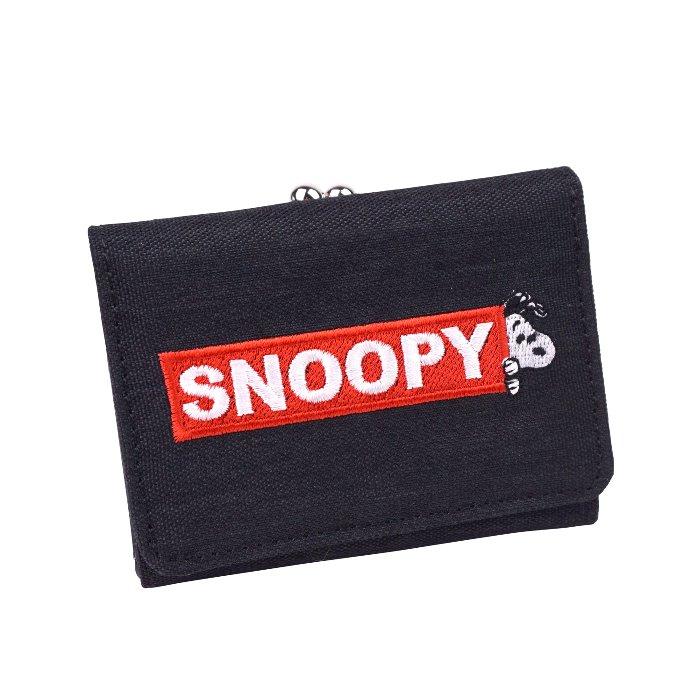 スヌーピー 財布 三つ折り 3つ折り ミニ レディース がま口 シンプル 大人 向け キュート SNOOPY キャラクター かわいい 小さい サイフ ショートウォレット