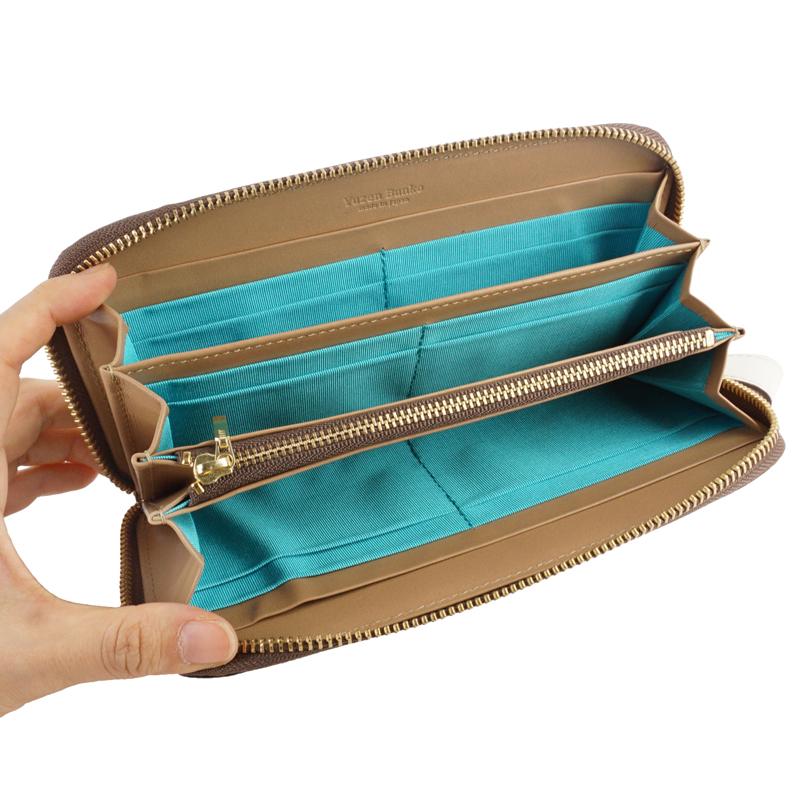 長財布 ラウンドファスナー カード入れ 財布 大容量 本革 日本製 トリアングル 友禅文庫