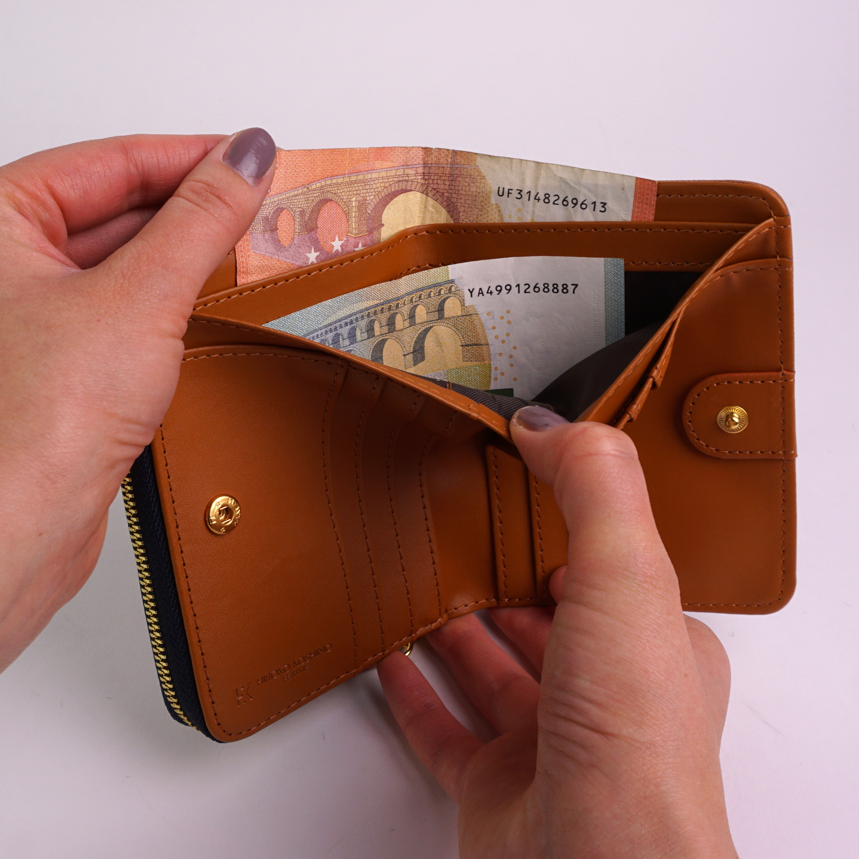 二つ折り財布 折りたたみ財布 ファスナー ジッパー レディース 3色 上品 婦人財布 カジュアル ギフト プレゼント コシノヒロコ HIROKO KOSHINO