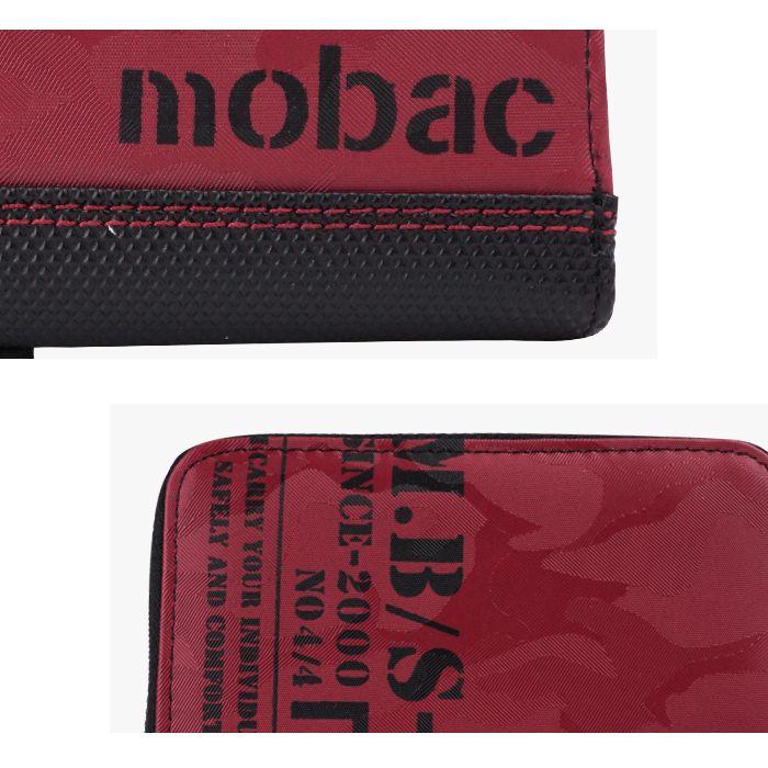 財布 二つ折り財布 メンズ 小銭入れ ラウンドファスナー ツートンカラー バイカラー 4色展開 カジュアル mobac モバック ギフト 祝い プレゼント