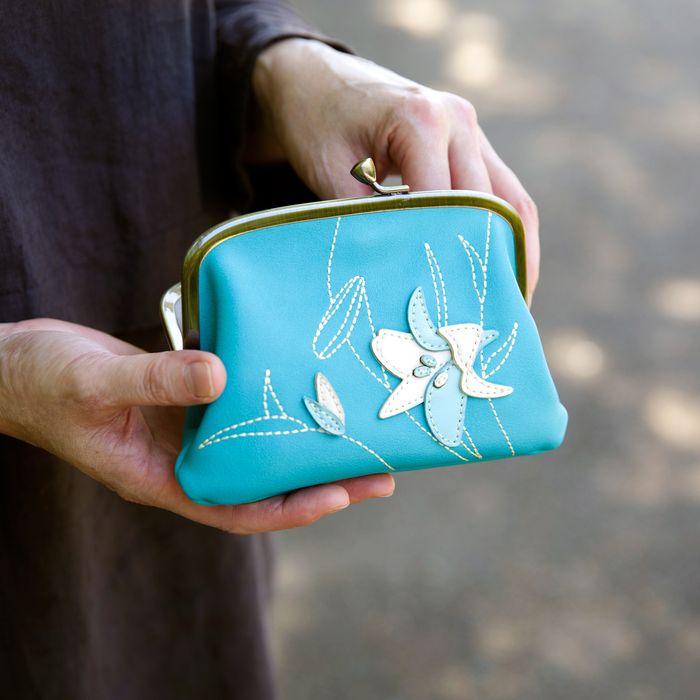 12ヶ月の誕生花をモチーフにしたパッチワークが美しい親子がま口財布【銭入屋】