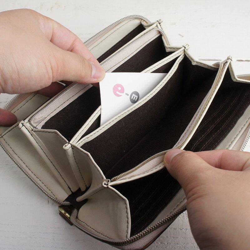 スタイリッシュなツートンカラーのラウンドファスナー長財布【mobac】