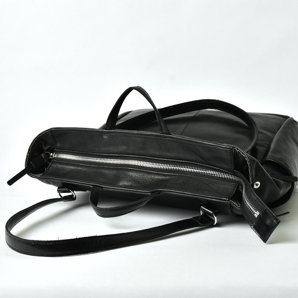 レザートートバッグ【Noir et lumiere】