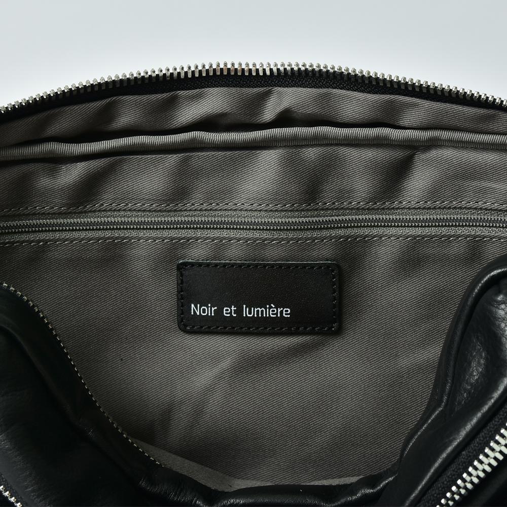 レザーウエストバッグ【Noir et lumiere】