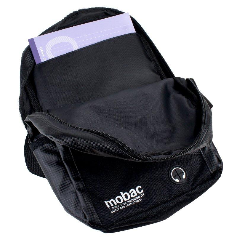 バッグ ボディバッグ メンズ 軽量 カーボンソフトレザー メタリック mobac