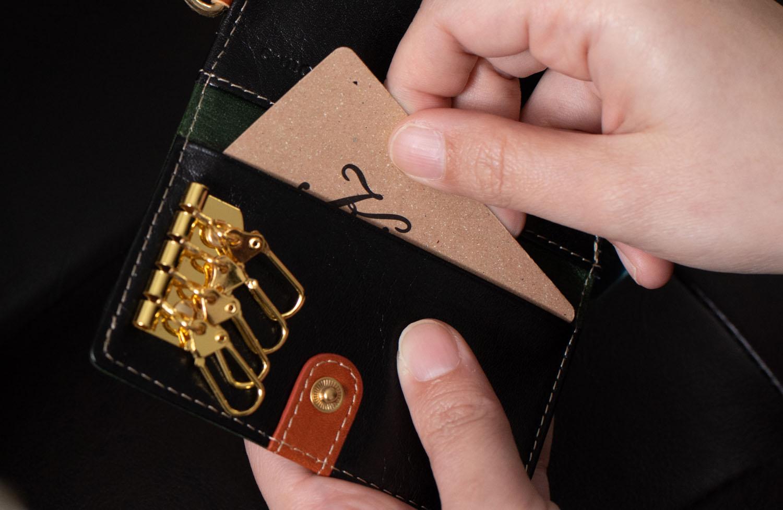 【カスタムオーダー】小銭入れ付キーケース